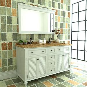 美式鄉村浴室柜模型