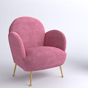 现代单人沙发椅模型