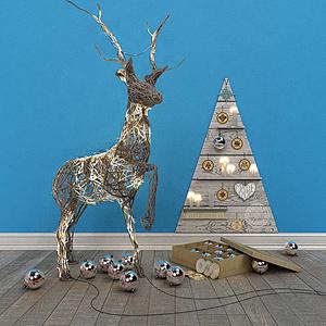 3d圣诞节摆件模型