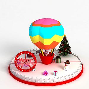 圣誕節商場展示模型