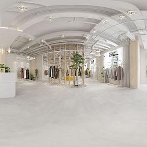 3d品牌女装专卖店模型