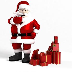 3d圣诞节商场展示模型