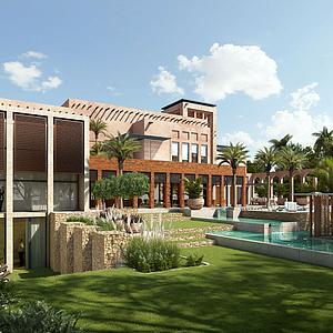 現代別墅外觀模型