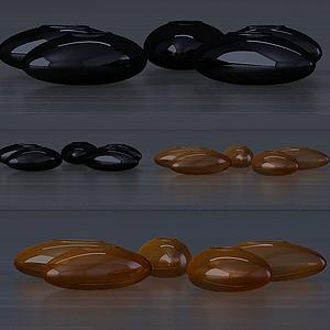 3d<font class='myIsRed'>石头</font>式花瓶模型