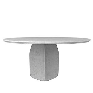 3d<font class='myIsRed'>石头</font>圆桌模型