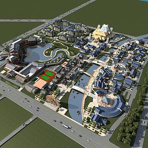 3d中式步行街模型