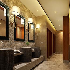 3d現代酒店衛生間模型