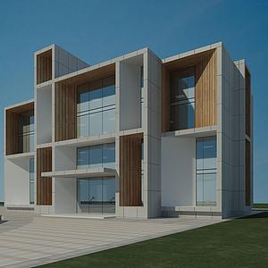 3d學校大樓教學樓模型