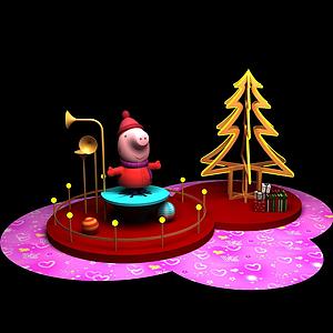 圣诞节商场展示模型