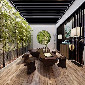 茶室3d模型