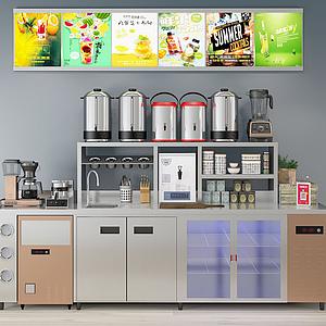 飲料機現代廚房用品模型