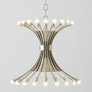 3d現代中式圓環吊燈模型