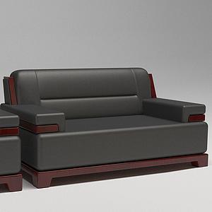 皮沙发组合模型