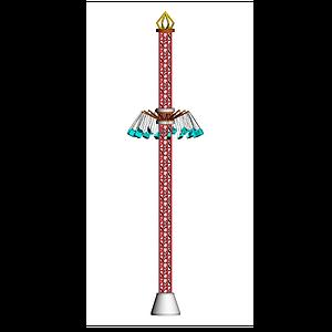 3d游樂園飛行塔模型