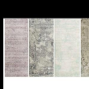 現代素花色地毯模型