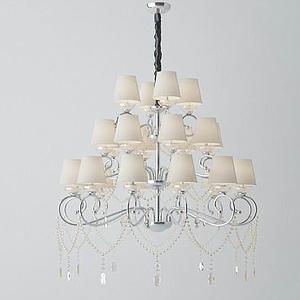 3d現代歐式吊燈模型