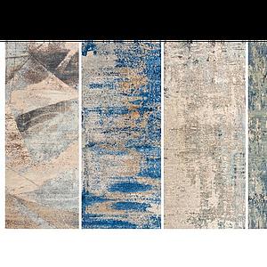現代素花色地毯組合模型
