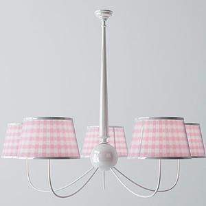 3d田園美式吊燈模型