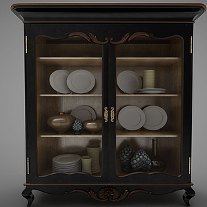 現代瓷器櫥柜模型