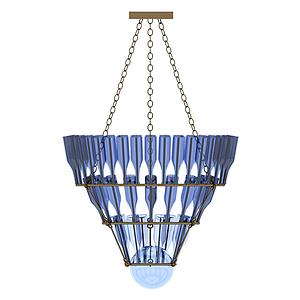3d現代圓環吊燈模型