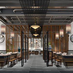 3d中式经典<font class='myIsRed'>餐厅</font>模型
