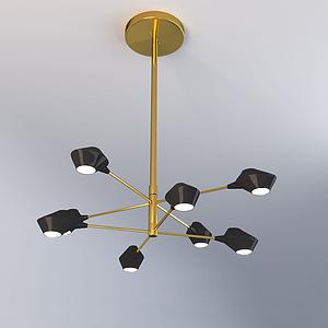3d北欧创艺吊灯模型