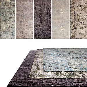 中式地毯組合模型