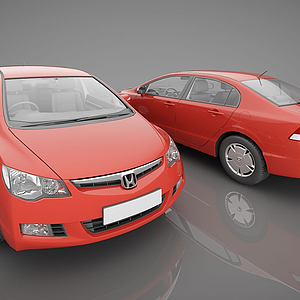 3d现代风格小<font class='myIsRed'>汽车</font>模型