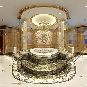 現代簡約浴室模型