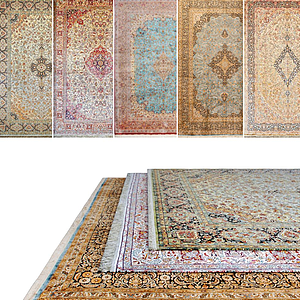 現代花式地毯組合模型