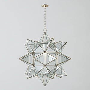 3d現代金屬吊燈模型