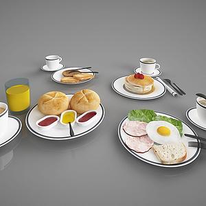 現代食物擺件模型