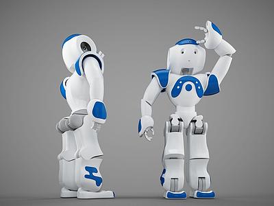 3dAlpha智能跳舞機器人模型