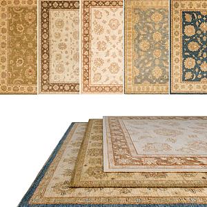 3d復古花紋圖案地毯模型