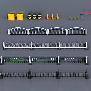 道路隔離護欄模型