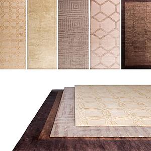 中式復古地毯組合模型