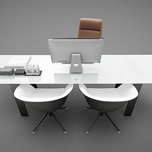 3d現代<font class='myIsRed'>辦公桌</font>椅模型