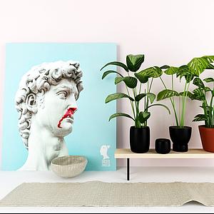 3d現代植物<font class='myIsRed'>盆栽</font>模型