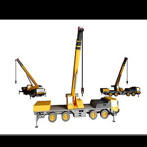 3d現代吊車模型