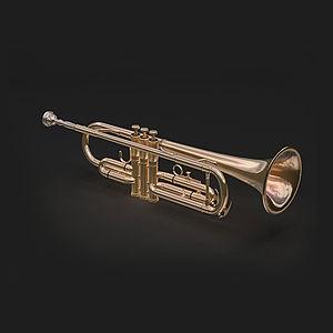 西洋樂器短號模型