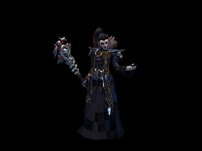 女黑暗精靈Darkelf Light模型3d模型