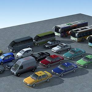3d現代<font class='myIsRed'>汽車</font>模型組合模型