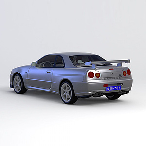 3d?日產<font class='myIsRed'>跑車</font> 1999款模型