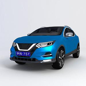 3d尼桑逍客2018款SUV模型
