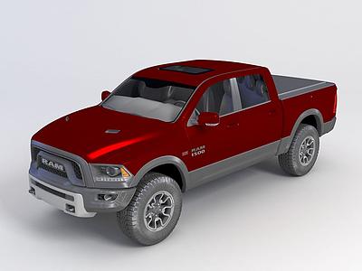 3d?道奇RAM 1500 2015款模型