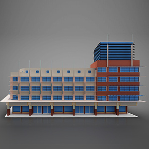 3d現代建筑風格模型