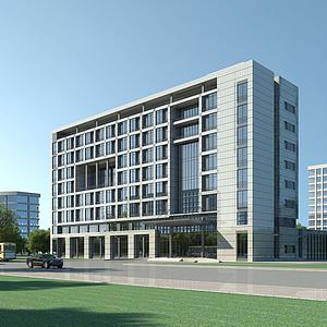 3d办公楼模型模型