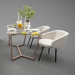 3d沙發餐桌模型