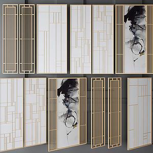 金屬隔斷屏風組合模型