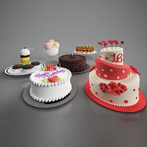 食物蛋糕模型